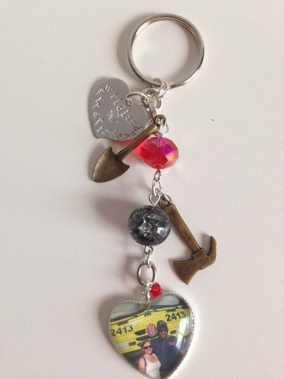 Custom made Wildland Firefighter Key Chain by SpottedFire on Etsy
