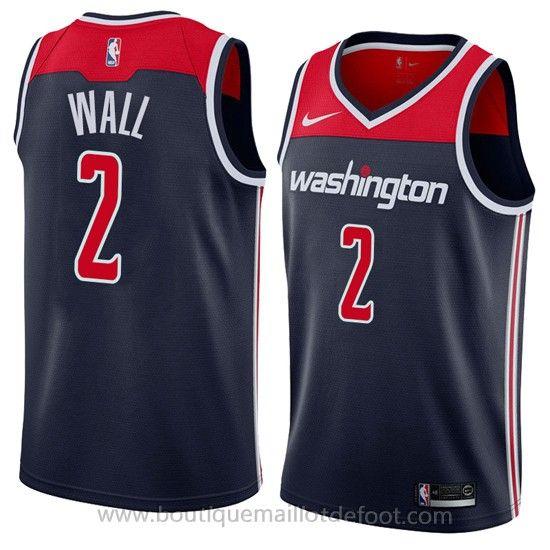 best website fd21a ab810 Nke maillot de basket nba Bleu foncé John Wall Washington ...