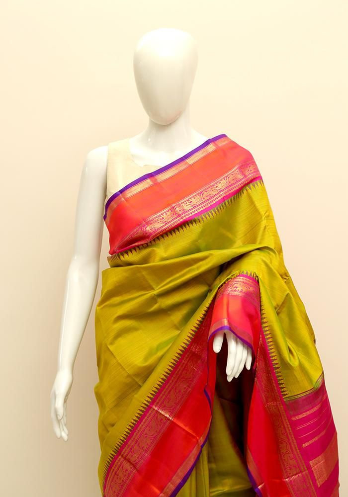 1747845c3c3a5d Kanchipuram Silk Saree – Desically Ethnic | Sarees in 2019 | Saree ...