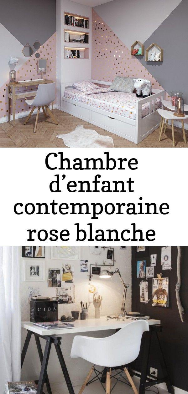 Chambre D Enfant Contemporaine Rose Blanche Beige Bois Inspirez
