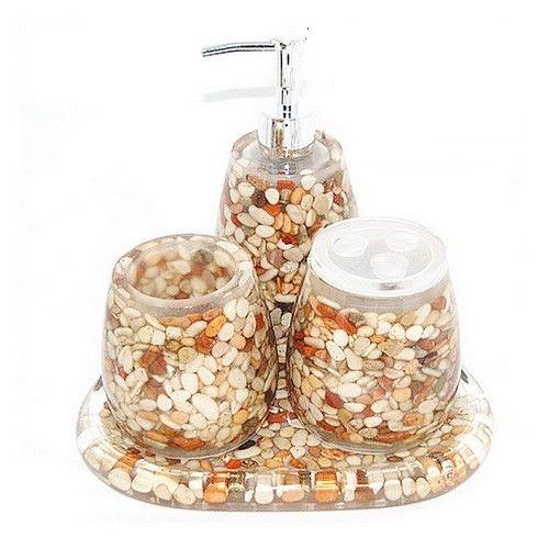 www.BeUnique.sk - Organic Bali Pebbles Bathroom Set