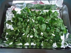 How to oven dry your own basil leaves  We have grown a lot of basil in our side vegie patch and recently I needed to use dried basil in a recipe. The quickest way to dry fresh herbs is in the oven. I normally store excess basil in oil and freeze, make homemade pesto or hang it up to dry (takes a week or so).   Link: http://www.ladycreativity.com/2014/10/how-to-oven-dry-your-own-basil-leaves.html