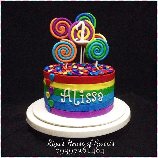 Wonderful Candy And Lollipop Inspired Birthday Cake By Riyuu0027s House Of Sweet Check  Her FB Page: Awesome Ideas