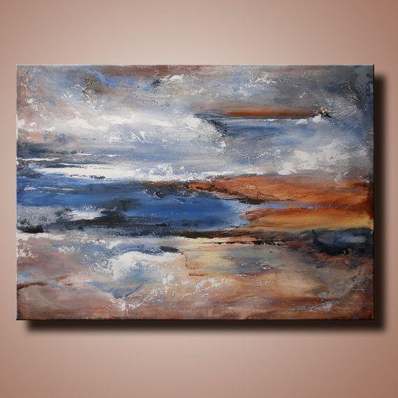 Pintura abstracta con textura original sobre lienzo por itarts