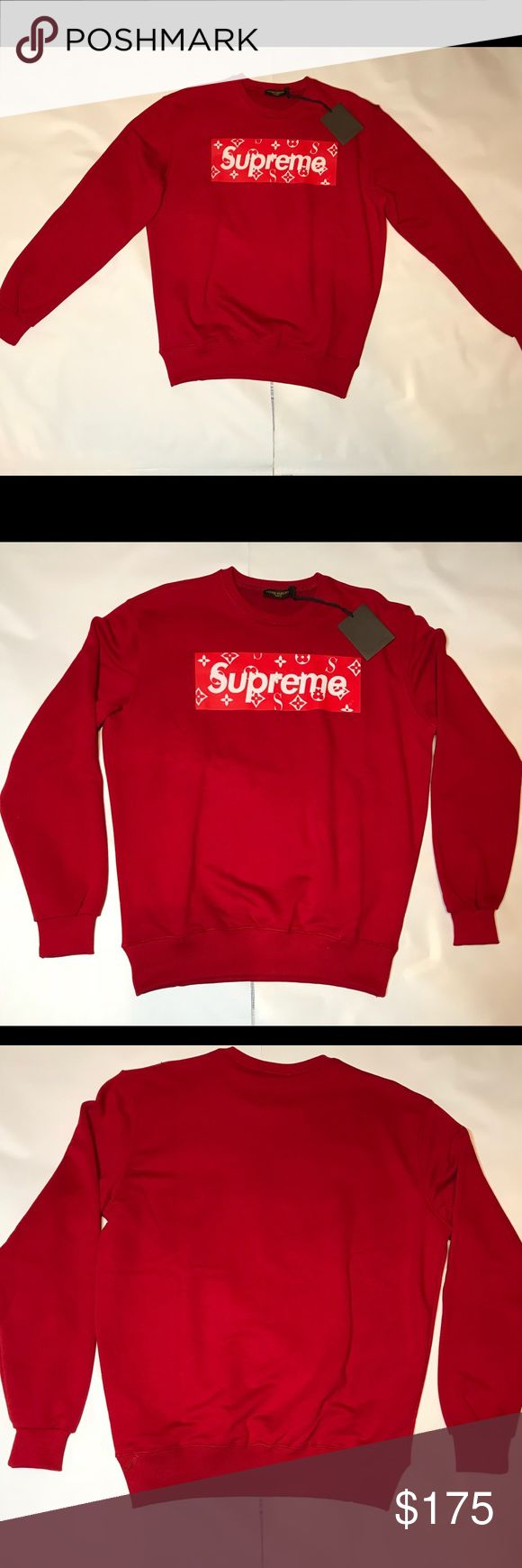 Louis Vuitton Supreme Sweater > 3 and more purchase %10 discount > Express Shipping Providing > All sizes are available  > Brand-new with tags,never used and worn > Louis Vuitton Supreme Collection  > Take a glance at my closet for more... > Feel free to ask question > PLEASE MAKE REASONABLE OFFER > Have a nice shop 😊 Supreme Sweaters