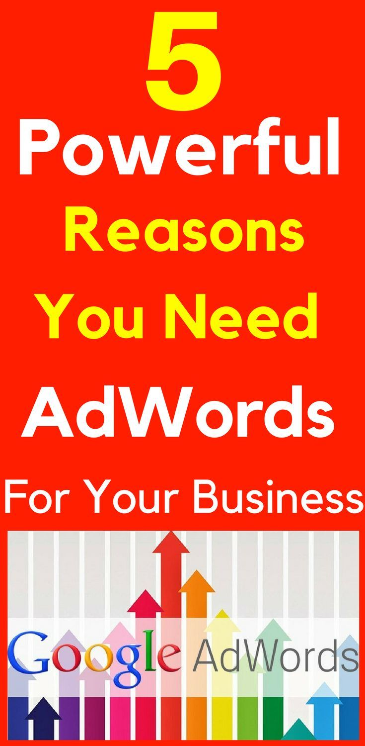 5 Powerful Reasons You Need AdWords For Your Business  What is Google AdWords and Why Do I Need It? How do you stand out from the competition and get more customers to visit your website? AdWords are the websites listed at the top and down the right side of every Google search. These are the websites that grab the searchers attention first.  5 Powerful #Reasons You Need #AdWords To Grow Your #Business