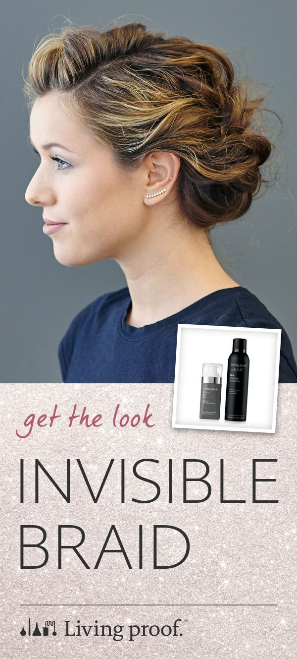 If you can french braid, you can create this gorgeous invisible braid updo, perfect for your next holiday party!