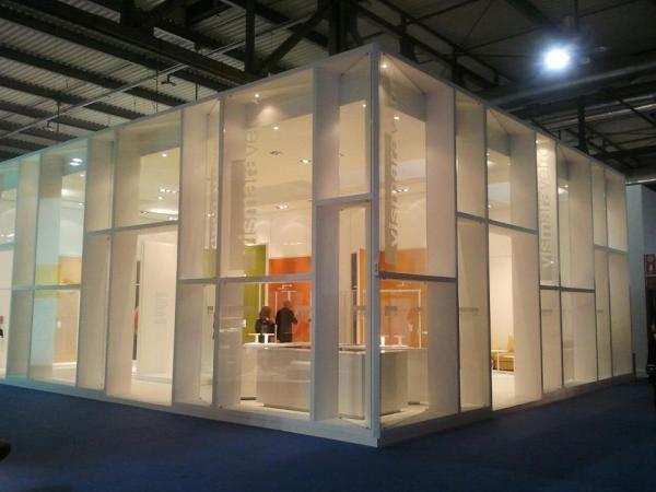 Vismaravetro stand at Milan furniture fair