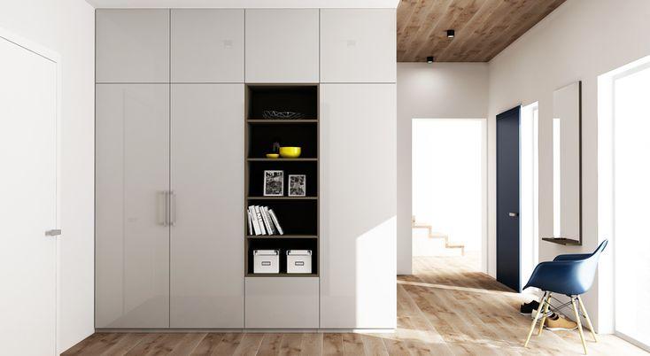 Model STYLE, dokonalá skříň s nikou i posezením     Tento nový model s otevíravými dveřmi můžete mít jak v klasické uzavřené sestavě, tak v sestavě obohacené o vsazenou niku či dokonce pohodlné místo k sezení. Je i konkrétní ukázkou rohového řešení skříní. Nika a místo k posezení o to více vyniknou díky odlišnému zvolenému materiálu