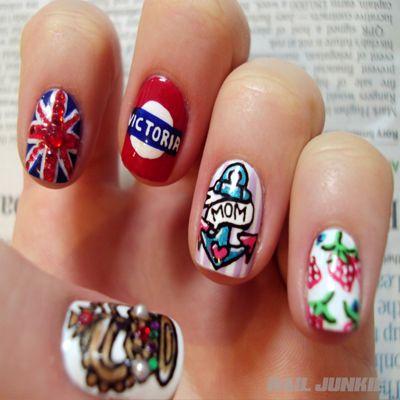 30 Best British Flag Nail Art Designs #nailart #naildesigns2015 #britishnails