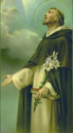 St. Dominic (1170-1221), founder of the Order of Preachers (The Dominicans), received the Rosary from Our Lady. He is the patron of Astronomers and Falsely Accused People. Feast Day - August 8