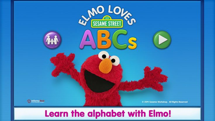 Elmo Loves ABCs // Elmo loves this app! It has songs and videos about letters. It has coloring pages and games about letters. It has all the letters from A to Z! Elmo even made a new alphabet song for it. Elmo thinks it's the best ABC app ever! Come on! Explore the alphabet with Elmo!