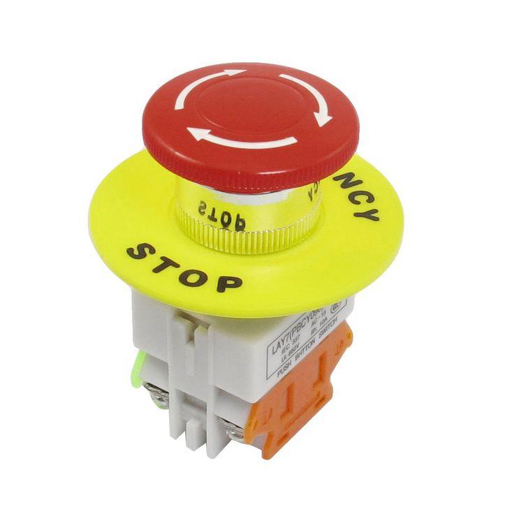 Imc caliente Red Mushroom Cap 1NO 1NC DPST de parada de emergencia interruptor de botón AC 660 V 10A en Interruptores de Botón de Suministros Eléctricos en AliExpress.com | Alibaba Group