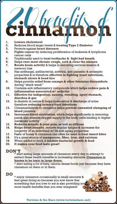 Health,Fitness and Me: 20 Health Benefits of Cinnamon