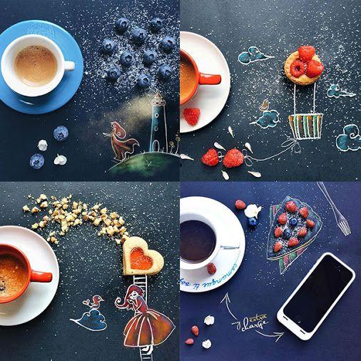Кофейные истории Синтии Болонези Художник-иллюстратор Синтия Болонези (Cinzia Bolognesi) тоже любит бодрящий кофе. Однажды она поставила свою чашку и положила печенье на черный холст, с которым обычно работает, и вдруг поняла, что утреннему натюрморту не хватает всего лишь нескольких штрихов. Так Синтия начала рисовать свои кофейные рисунки и выкладывать свои работы в Instagram @cuordicarciofo.Ее очаровательные и вкусные работы получили признание по всему миру. #кофе #арт #coffee…