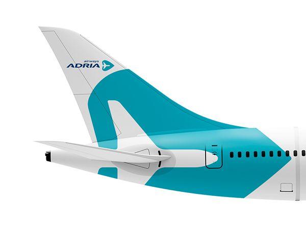 Adria Airways rebranding concept on Behance Airline Branding Design