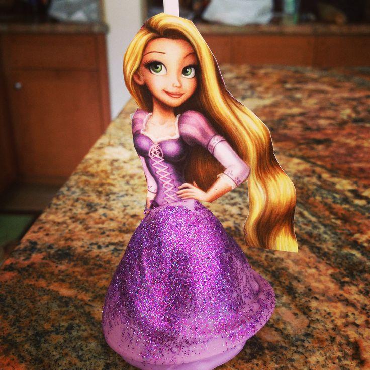 Tangled princess cake pops! #brittnaysbakery #tangled #princess #disney #cakepops #love #purple