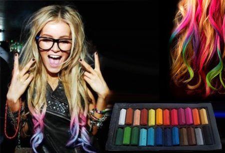 Uitwasbaar haarkrijt in 24 kleuren t.w.v. €30,- nu slechts €12,95!   #Aanbieding #haarkrijt #Uitwasbaar  https://www.vouchervandaag.nl/haar-krijt-24-kleuren-uitwasbaar-aanbieding