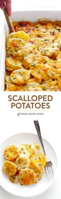 Scalloped Potatoes Recipe -- creamy, cheesy, irresistibly delicious, and made lighter with a few simple tweaks