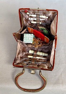 VICTORIAN-GILDED-FRENCH-NECESSAIRE-SEWING-CASQUET-BOX-KIT-SEE-VIDEO