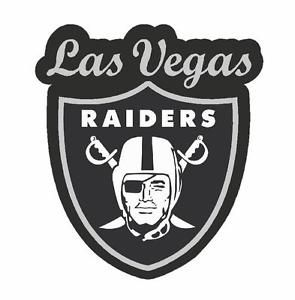 Las Vegas Raiders  | OAKLAND RAIDERS LAS VEGAS NFL VINYL STICKER / DECAL SILVER AND BLACK ...