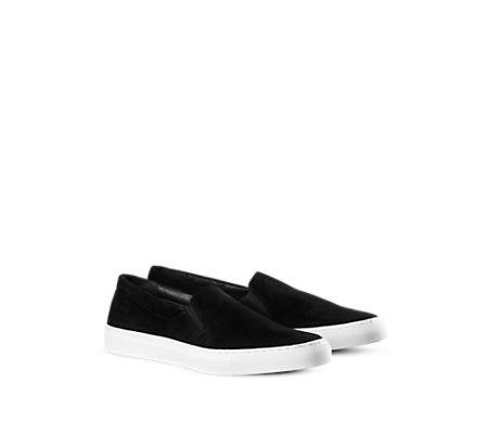 Morgan Suede Slip-on Shoe Black - Shoes - Shop Man - Filippa K