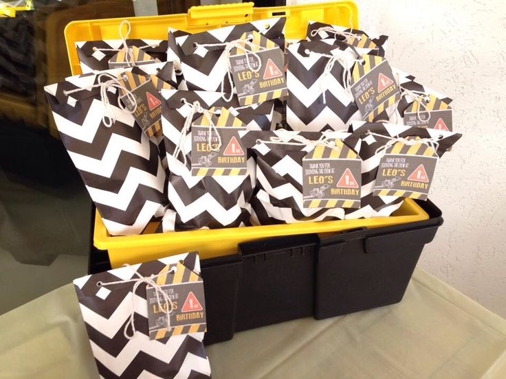 Leo's 1st Birthday - Construction Theme - Party Favours