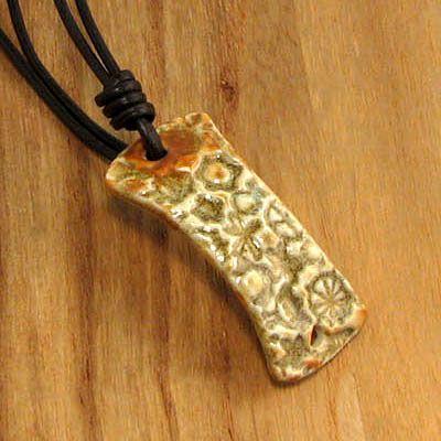 Handmade Stoneware Bracelet Component – 1 Piece