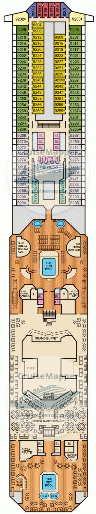 Carnival Conquest Deck 09 - Lido-Pool