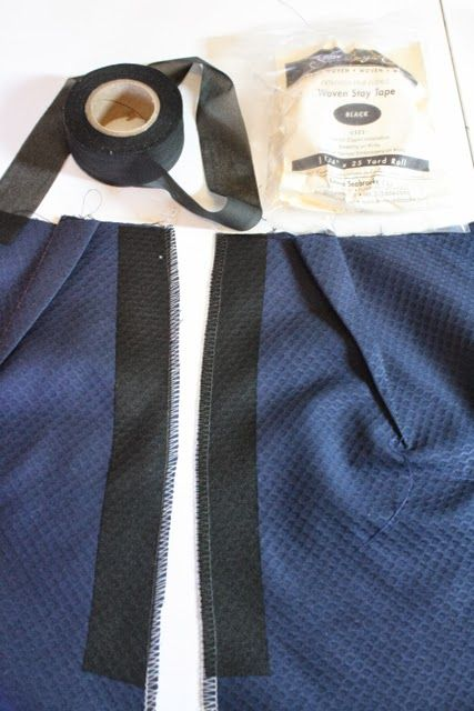 Always use stay tape alongside zipper opening! Especially in knits...