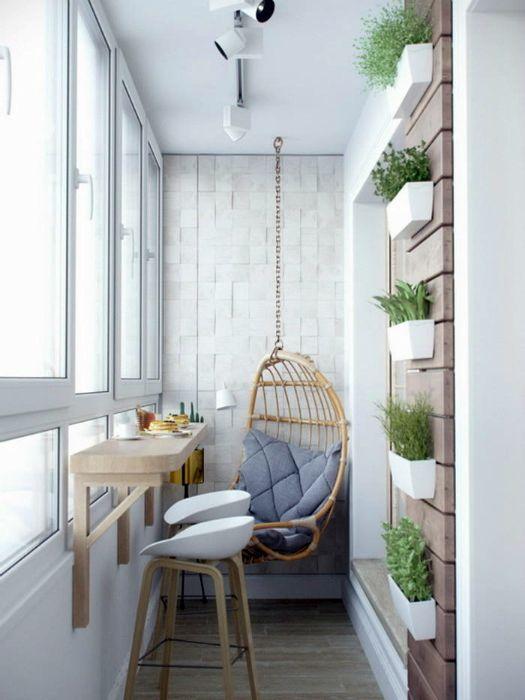 Балкон в скандинавском стиле.