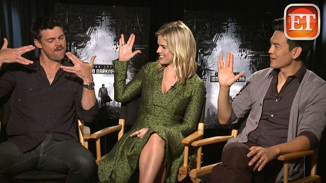 """How well do the stars of Star Trek Into Darkness know their source material? We put Chris Pine, Zachary Quinto, Karl Urban, Zoe Saldana, John Cho, Alice Eve, Benedict Cumberbatch and director J.J. Abrams to the test by throwing a little unexpected Trek trivia their way in a fun """"Warp Speed Round."""" Watch the video (http://www.etonline.com/movies/128135_Star_Trek_Stars_Take_on_Warp_Speed_Round/index.html)!"""