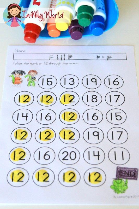 FREE Preschool Number 12 Maze