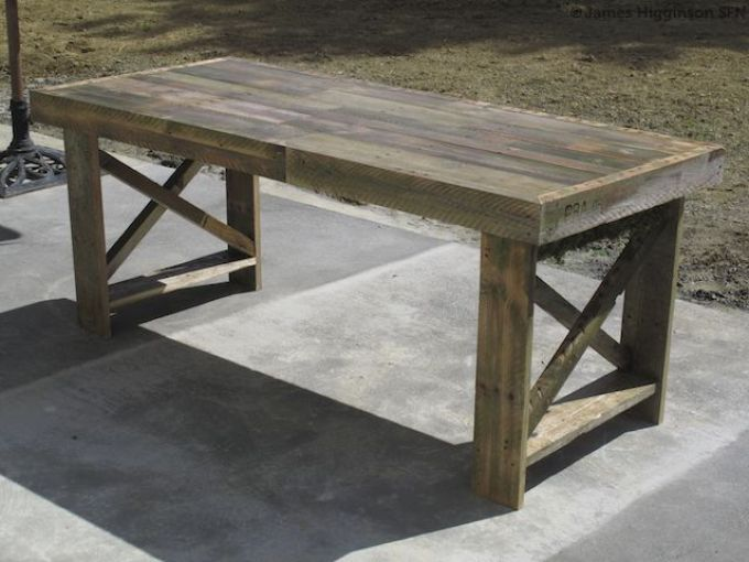Making a table from discarded pallets #DIY #recycle #inspiration