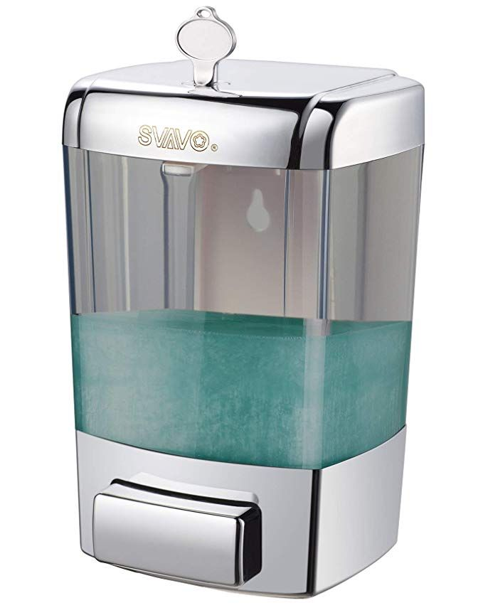 Amazon Com Svavo V 7101 Abs Plastic Wall Mounted Hand Liquid Soap Dispenser White Chrome 700 Soap Pump Dispenser Soap Dispenser Wall Commercial Soap Dispenser