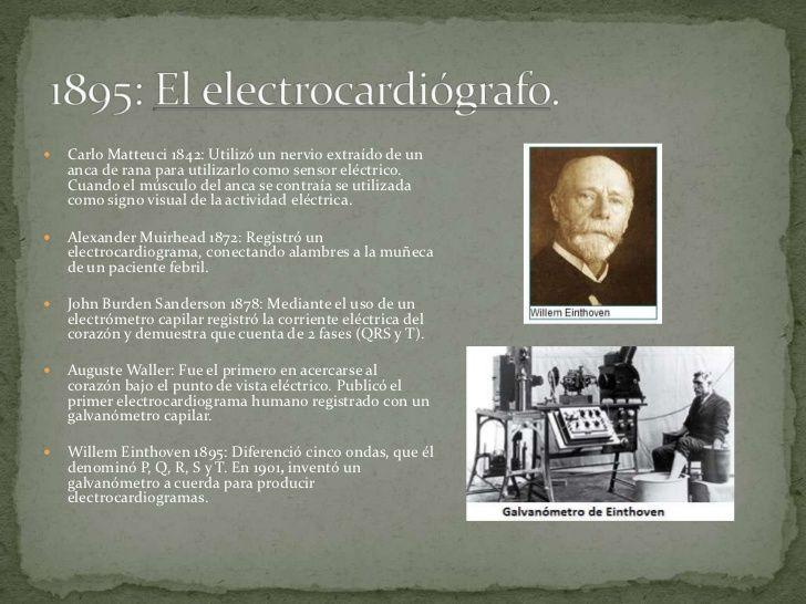    Carlo Matteuci 1842: Utilizó un nervio extraído de un    anca de rana para utilizarlo como sensor eléctrico.    Cuando...