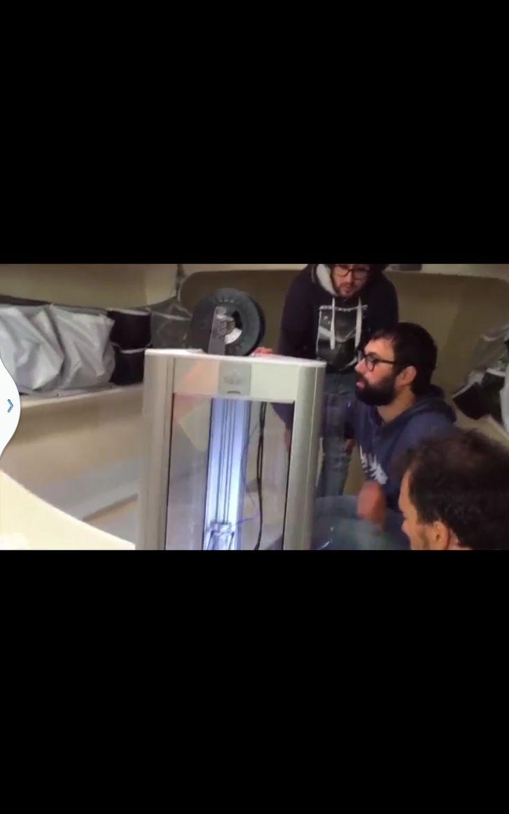 La stampante 3D a bordo