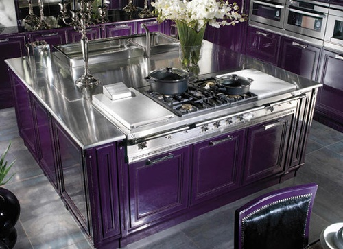 Could never actually do but WOW very cool Luxury Purple Kitchen ... Island
