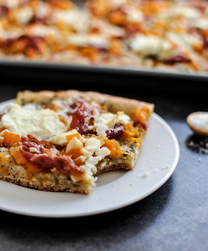 Ready for some fall flavors? This butternut squash, sage pesto, and prosciutto pizza has got you covered.