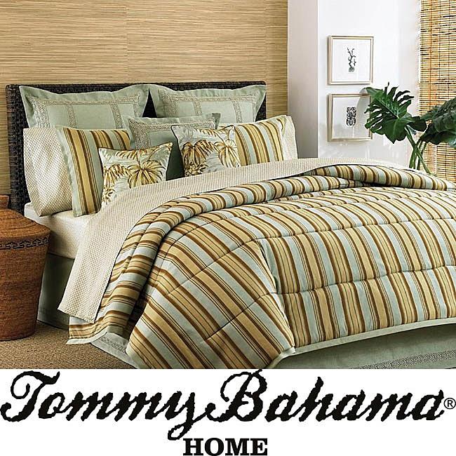 Tommy Bahama Marsh Harbour 4 Piece Queen Size Comforter