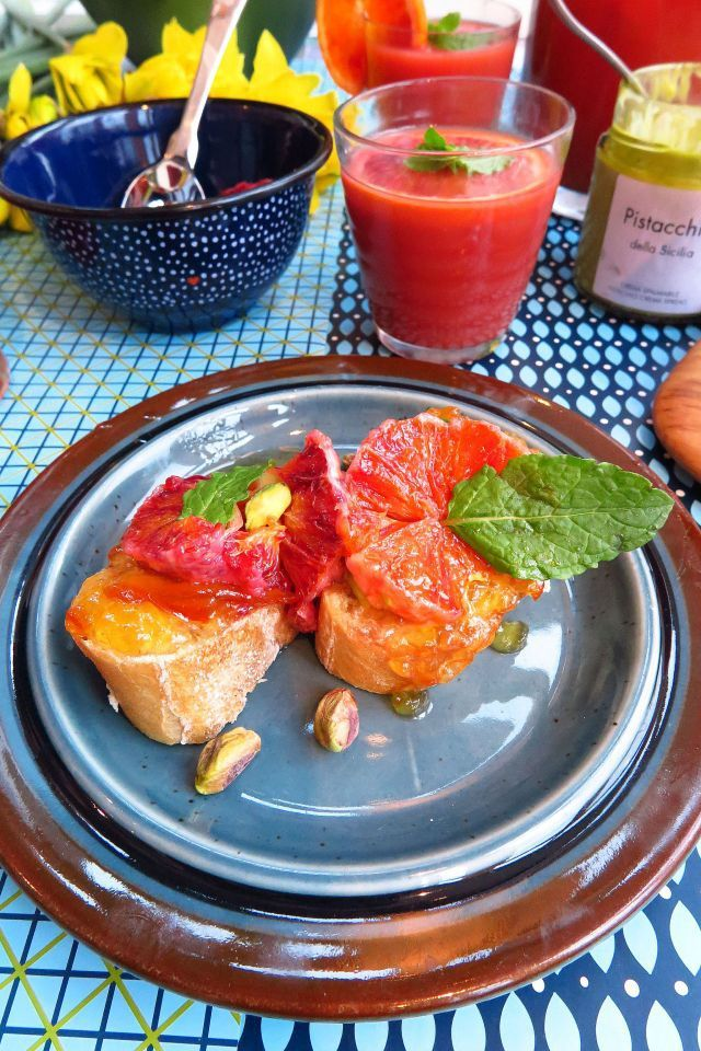 Jenni's Table: Blood Orange Brunch with caramelised fruity PB&J