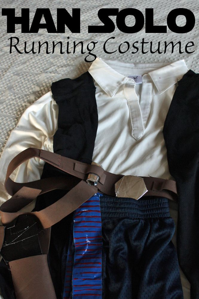 DIY Han Solo Running Costume or Easy Halloween Costume