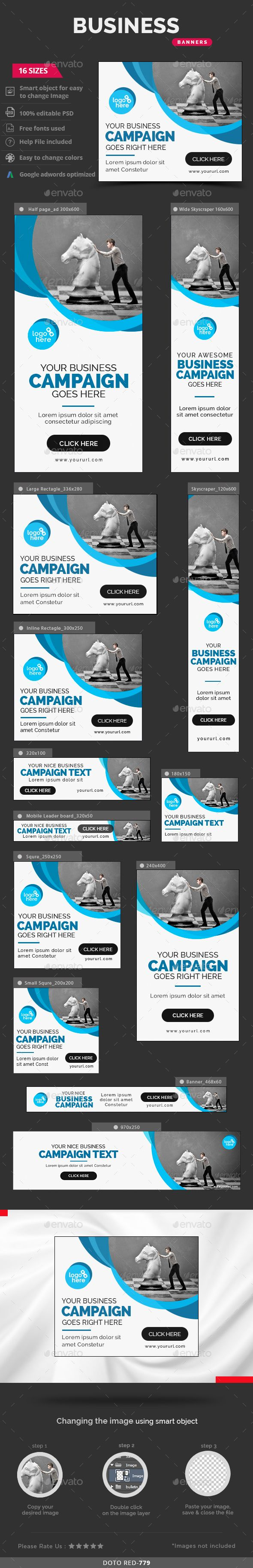 Business Web Banners Template PSD #design #ad Download: http://graphicriver.net/item/business-banners/13392044?ref=ksioks