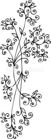 Vector of 'Refined Floral vignette CCLXXXV'