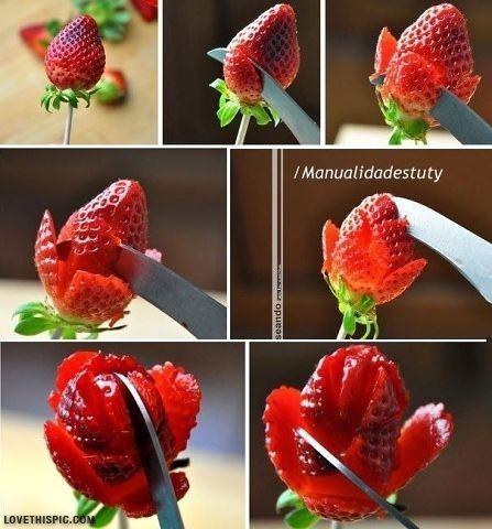 DIY Strawberry Flower diy crafts easy crafts home diy party decor easy diy food crafts home crafts food diy decorationa