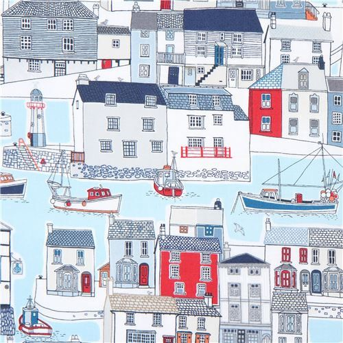 Hey, I found this really awesome Etsy listing at https://www.etsy.com/listing/532716043/215159-light-blue-with-boat-house-fabric