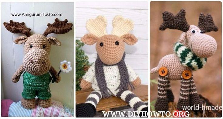 Amigurumi Crochet Moose Toy Softies Free Patterns: Christmas Toy Gift Crochet, Kids Moose Toys Plushes, Wonderland Moose Crochet