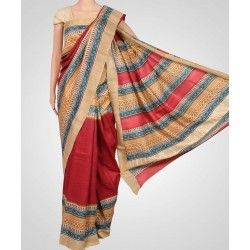 Tussar saree online presenting new range of handloom sarees, printed tussar silk sarees and tussar silk sarees, tussar silk sarees online shopping will make you experience grace.