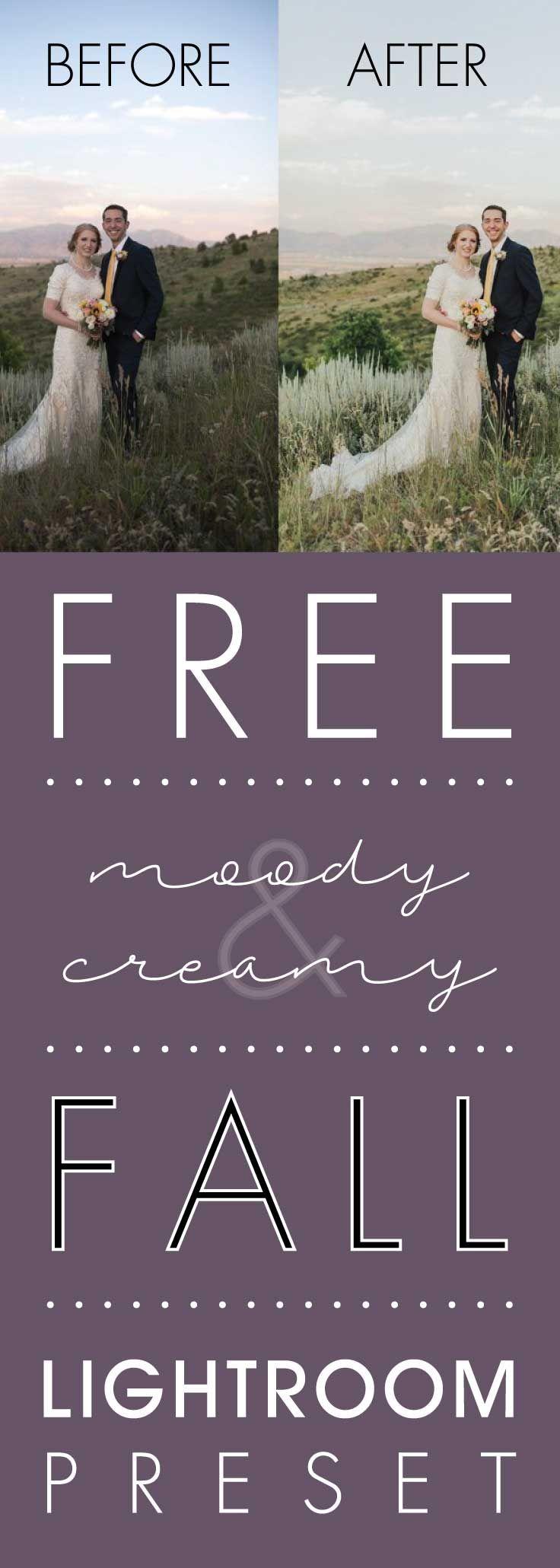 Free Moody and Creamy Fall Lightroom Preset
