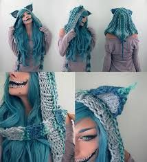How to crochet the Cheshire cat hood.